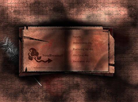 Fantasy book splashpage.