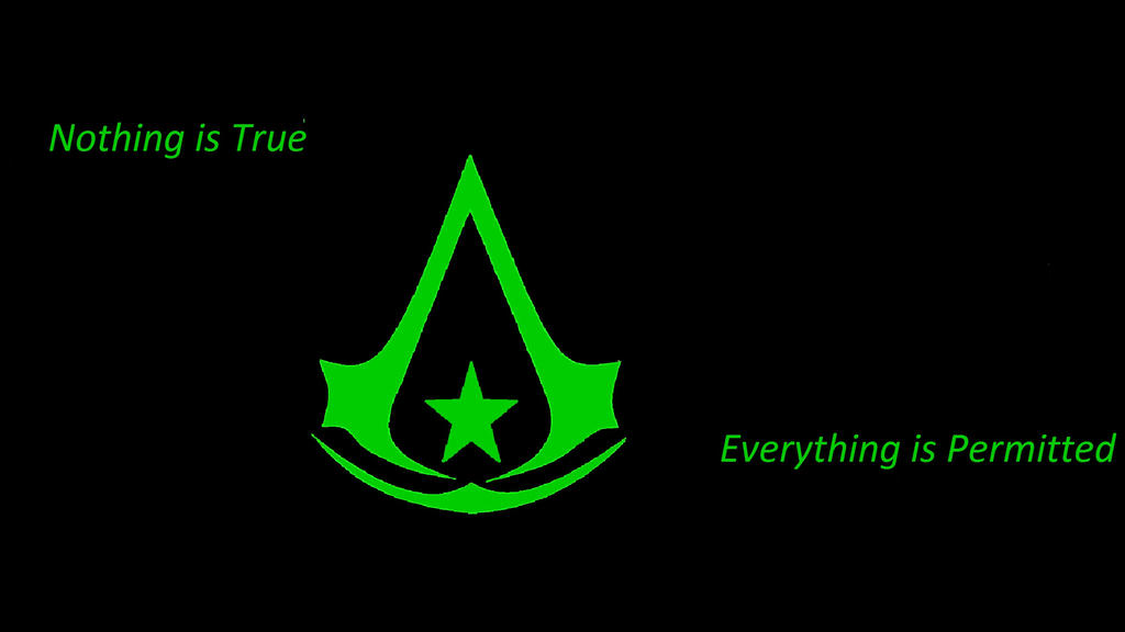 Assassins Creed Logo Wallpaper Nothing Is True Everything Permitted