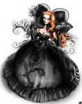 Black Lace Collar Dress Concept