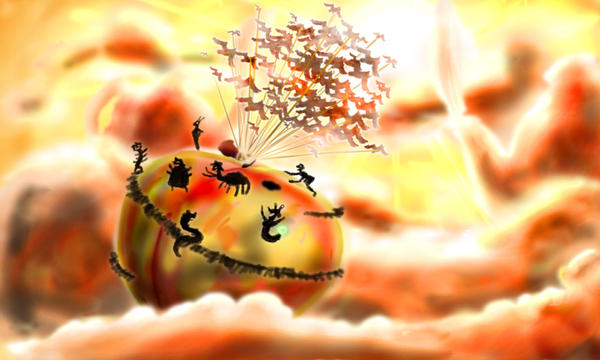 James and the Giant Peach by witchhunterrobin9