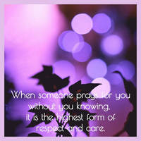 Respect and care..