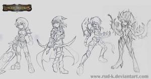 LOL champions sketch by Rud-K