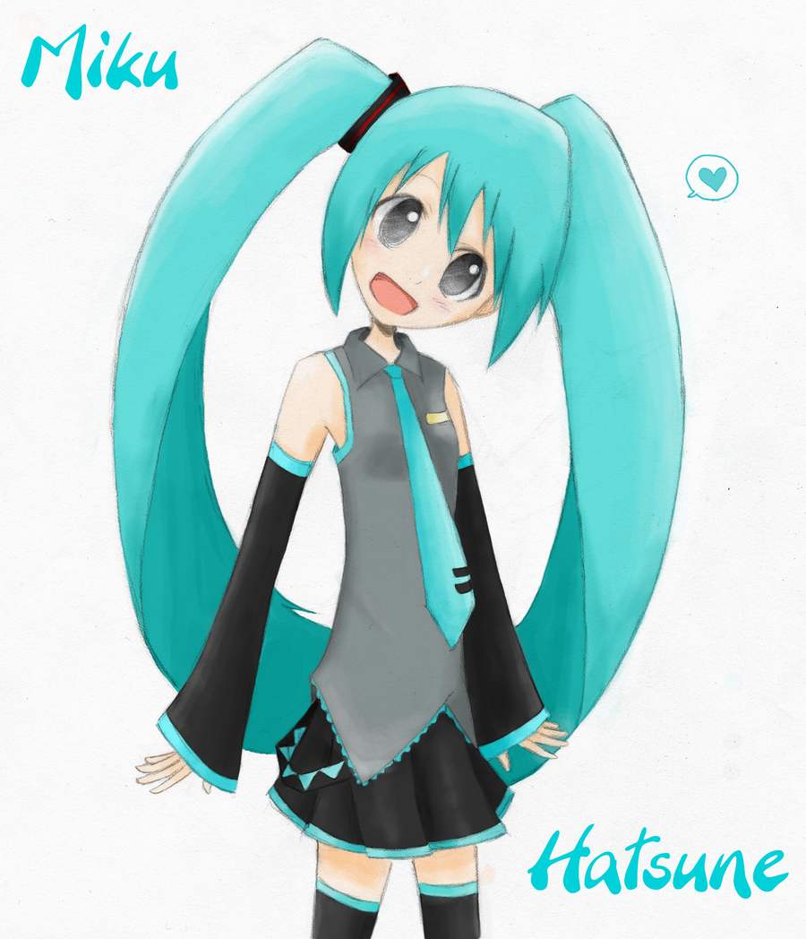 miku-sketch color by Yvanya