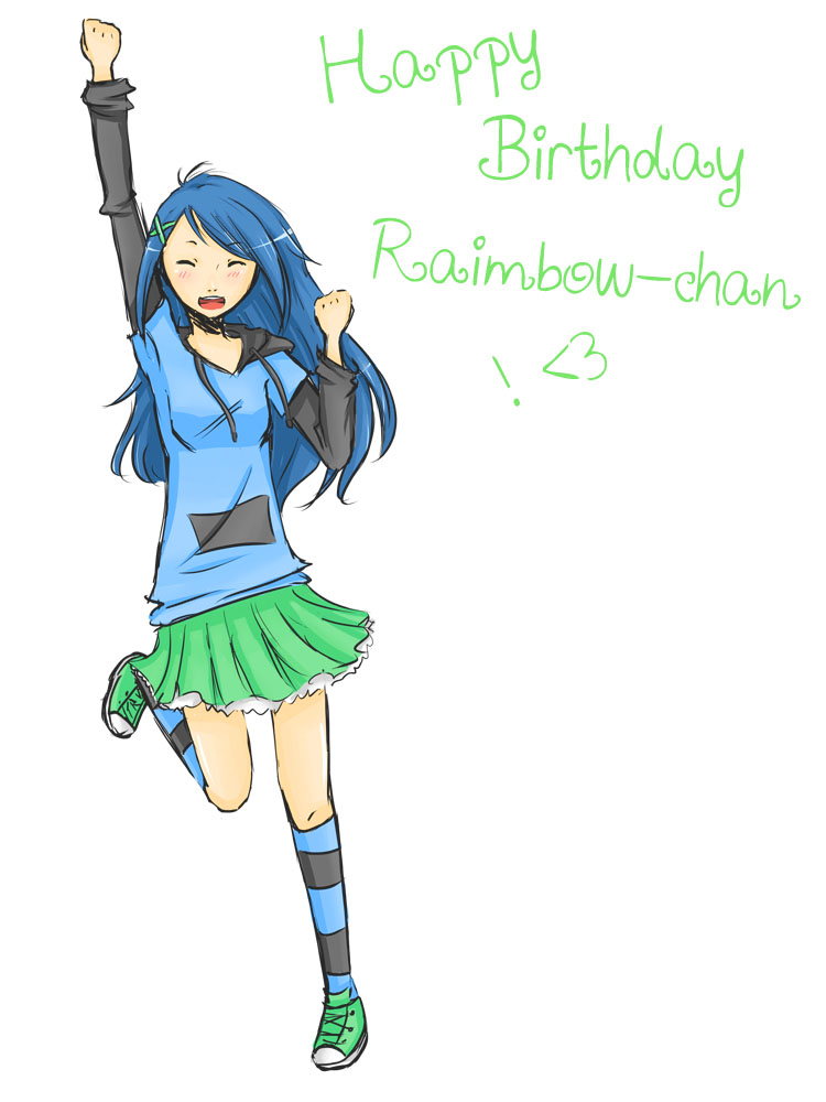 happy birthday raimbowscythe ! by Yvanya