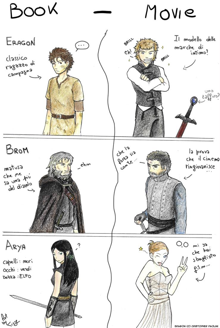 Eragon Book - Movie by Ticcy Eragon And Arya Drawings