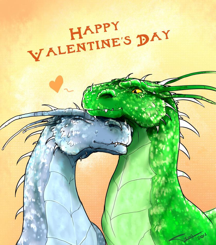 Happy Dragon Valentine by Ticcy
