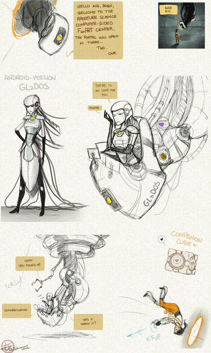 Portal fanart doodle 1 by Ticcy