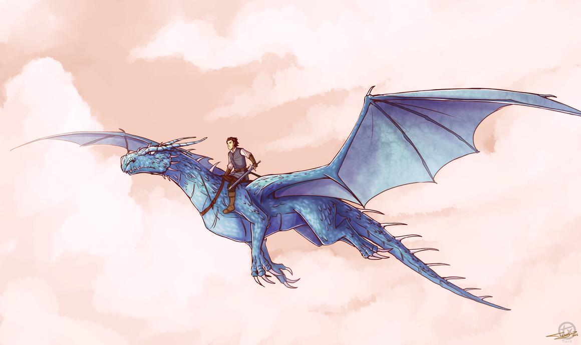 Eragon and Saphira by Ticcy on DeviantArt