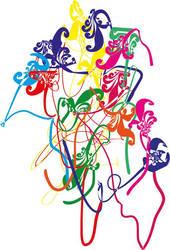 Colored Stars by lorenzopi