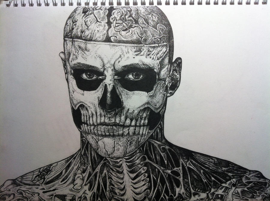 Rick Genest the Zombie Boy by Hyaxin