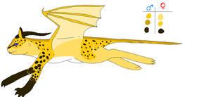 To Speed - Desert/Cheetah Dragon by BittyKitty1
