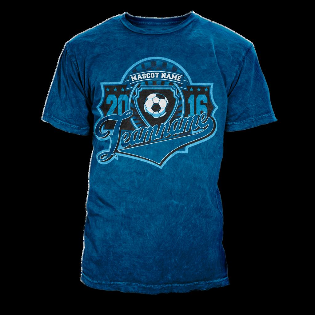 Design t shirt soccer - Soccer T Shirt Design Vector Template By Rivaldog