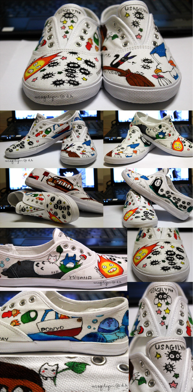 Studio Ghibli Shoes! by lynchees