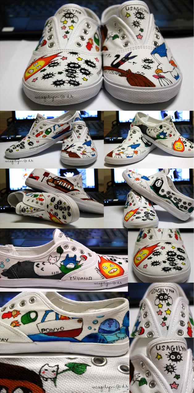 Studio Ghibli Shoes! by lynchees