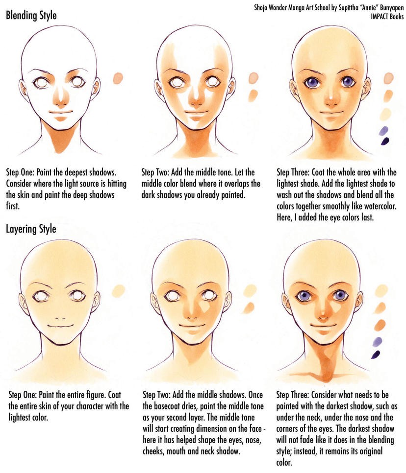 How To Color Skin Tones By Impactbooks On Deviantart