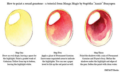 How to Paint a Round Gemstone by impactbooks