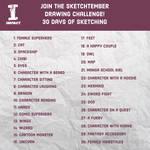 Sketchtember Drawing Challenge Prompt List