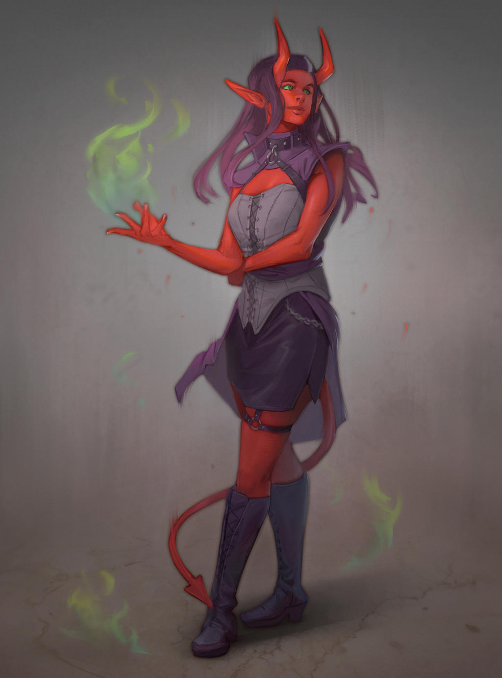 A Tiefling commission!