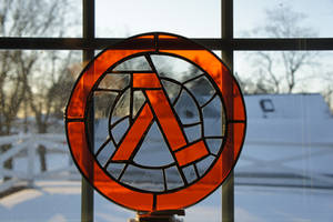 Stained Glass Half Life Logo by s1d3w4yz