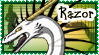 Razor Dragon Stamp by crystal-rex