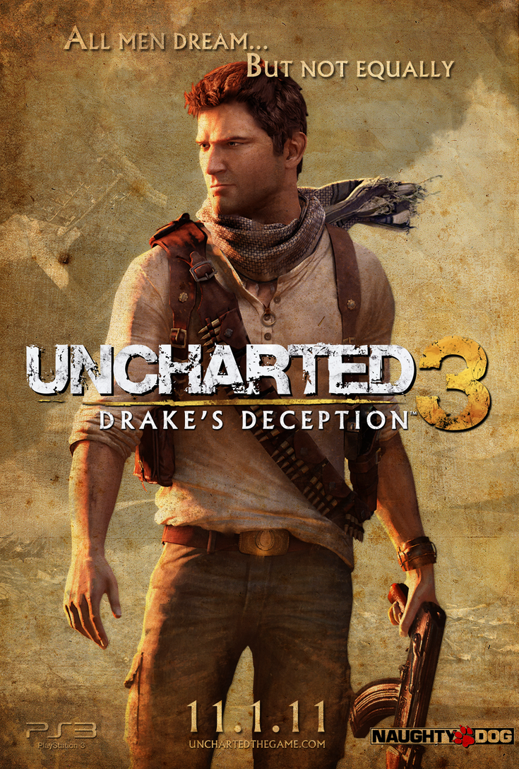 Uncharted 3 Teaser Poster by TwistRox