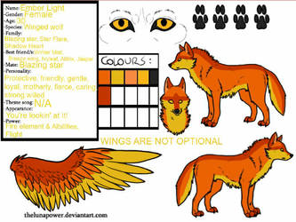 Ember Light UPDATED reference sheet
