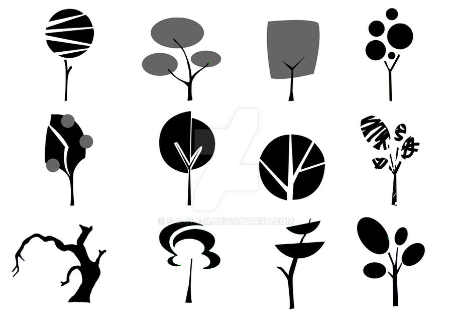 Tree Logo black and white