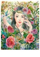 Commission: Flower Goddess by KannyMOs