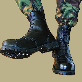 Combat boots by 14hyena88