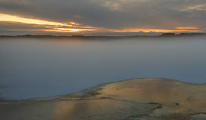 Fog, water  and ice