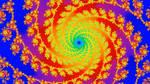 Hypnotic spirals - fractal animation by msdte