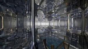 The citadel of a blued metal