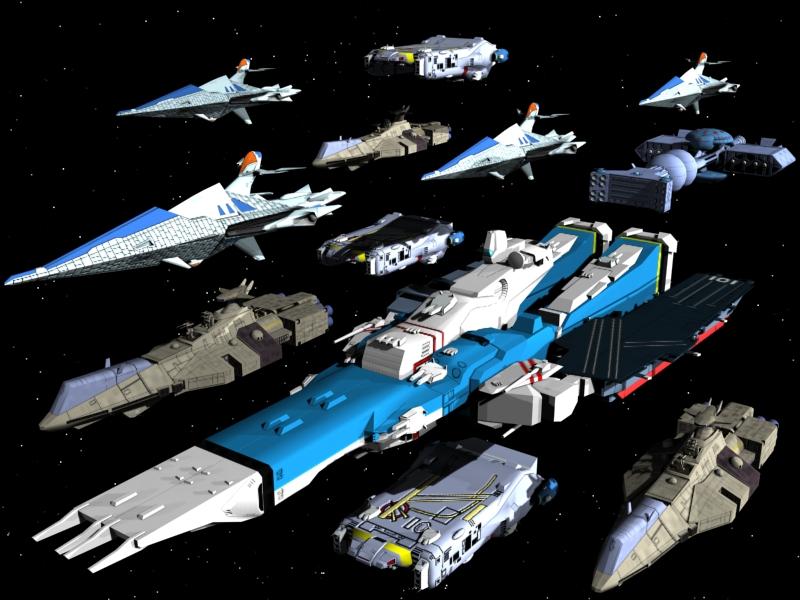 Spaceship Fleet by X1C...