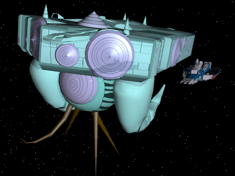 SDF-1 flies with Masters Mothership by X1Commander