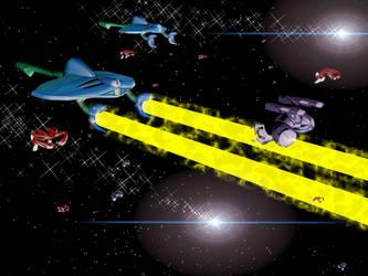 Invid Invasion Fleet 02 by X1Commander