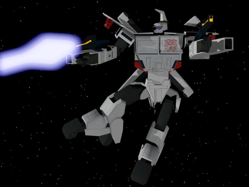 The Auroran firing its laser by X1Commander