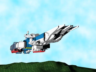SDF-1 above mountains by X1Commander