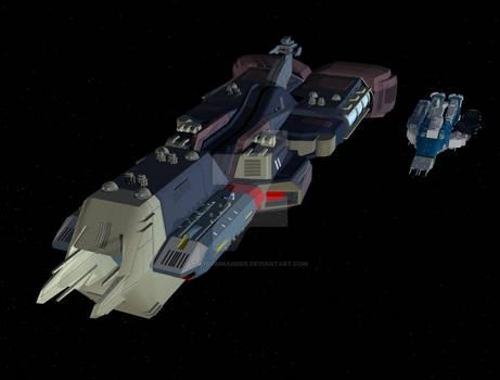 Ark Angel alongside SDF-1