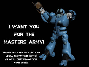 I want you for the Masters Army