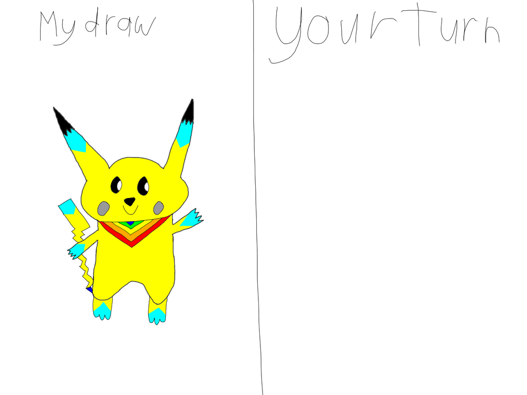 Your turn to Draw me by AsheAndCJThePikachus