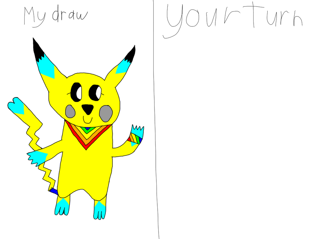 Draw Ashe The Pikachu by AsheAndCJThePikachus