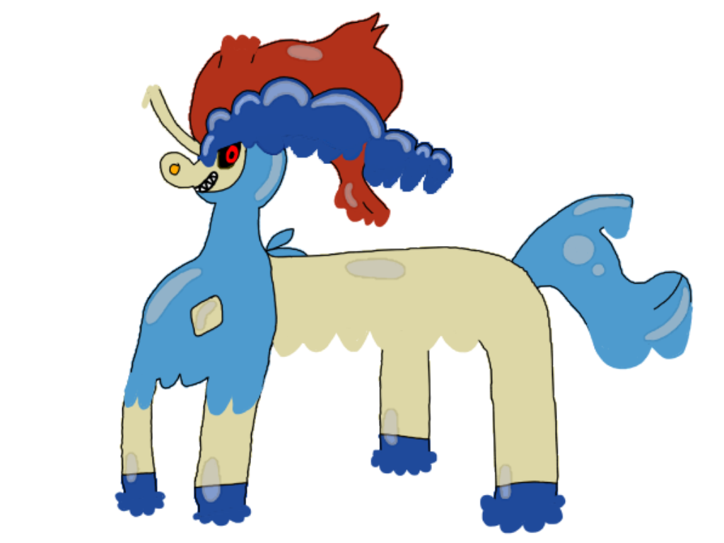 Inkdeo the Ink Colt(Demon Form) by AsheAndCJThePikachus