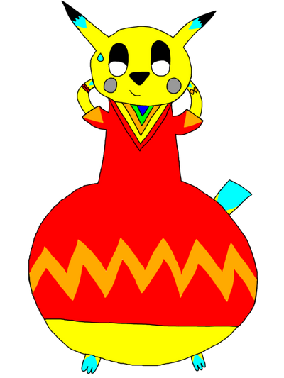 CJ The Heavy Bottom Pikachu by AsheAndCJThePikachus