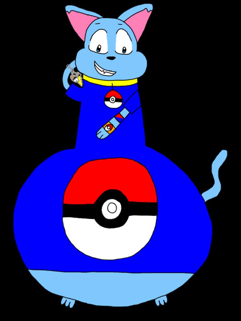 Riolu The Blue Heavy Bottom Cat by AsheAndCJThePikachus