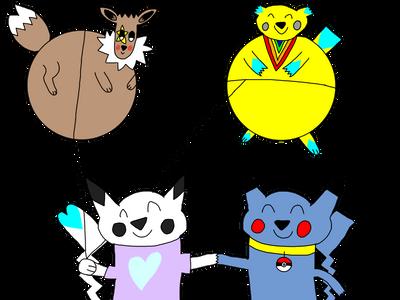 Oreo's Birthday Pokemon Balloons by AsheAndCJThePikachus