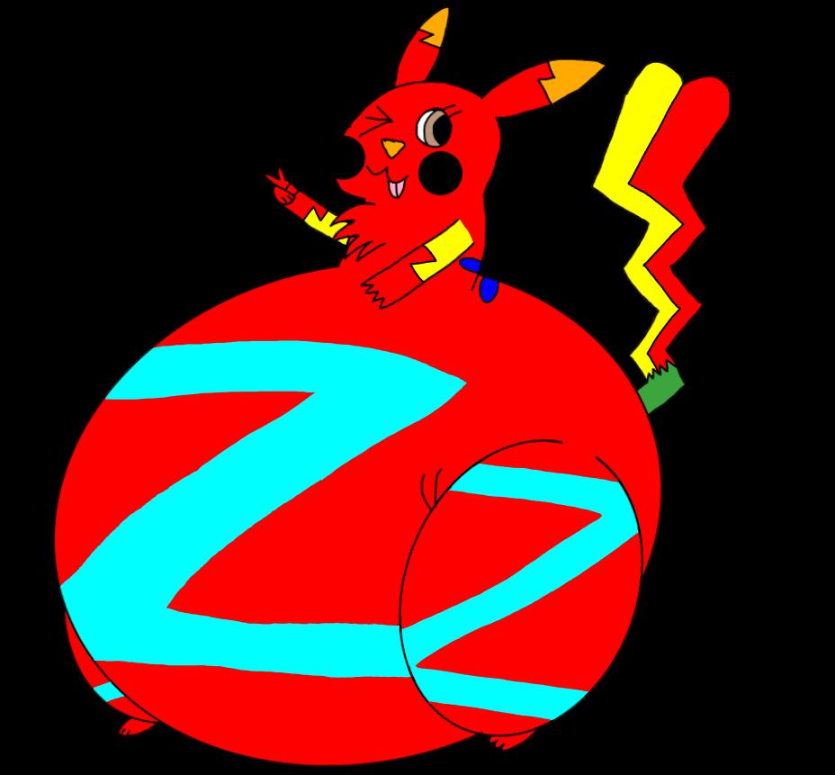 Electrichubbychu Z the Fat Pikachu by AsheAndCJThePikachus