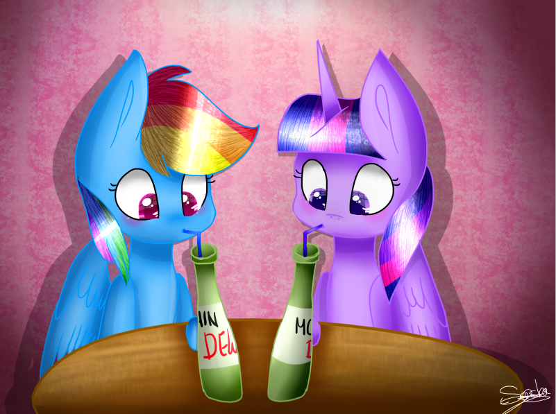 REQUEST - RD And T.S drinking Mountain Dew (Alvin) by SashaGlider