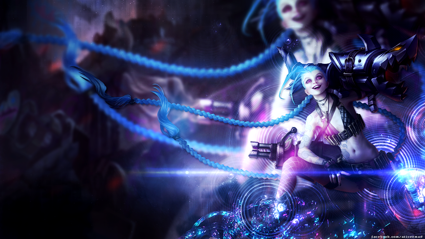 Jinx Wallpaper [1366x768] by AliceeMad