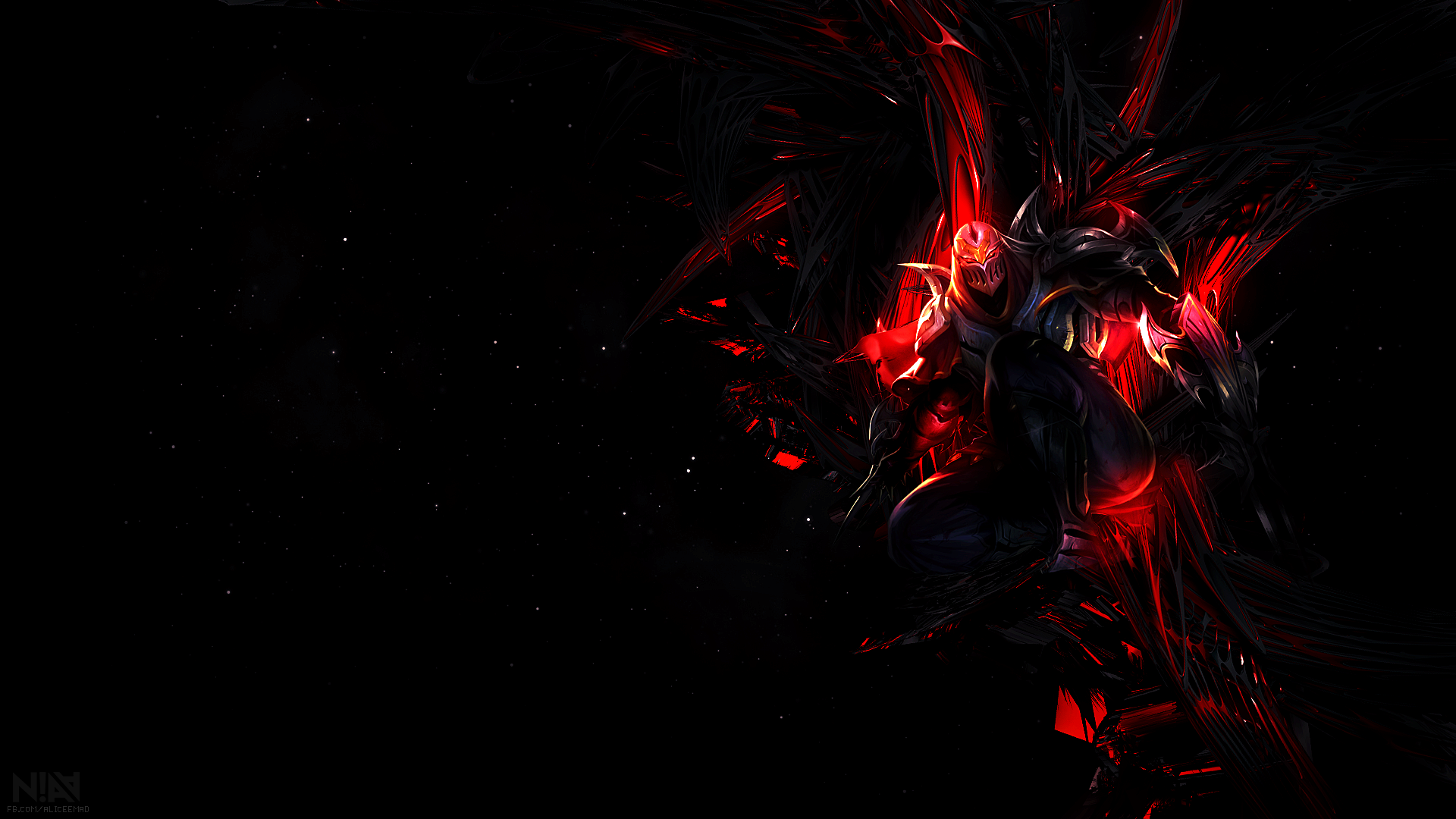 League of legends wallpaper zed by aliceemad on deviantart for Deviantart wallpaper
