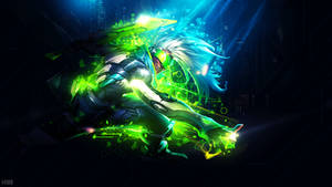 PROJECT: Ekko Wallpaper - 1920x1080 DISRUPTION by AliceeMad